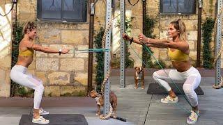 Bandas de resistencia: entrenamiento de cuerpo completo de 4 minutos