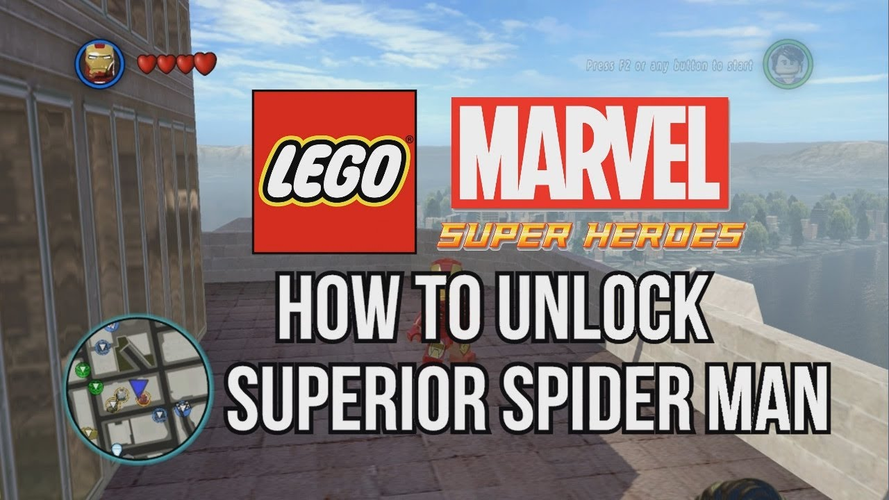Aninimal Book: How to Unlock Superior Spider Man - LEGO Marvel Super ...