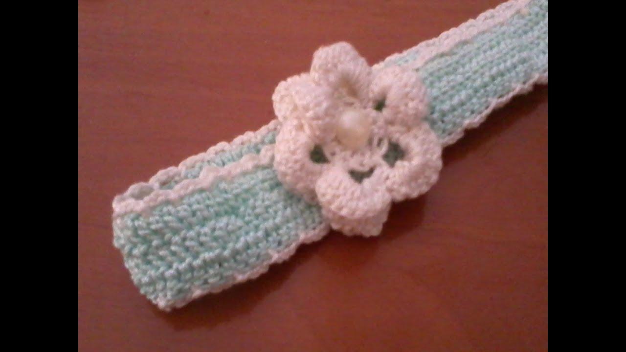 Fiore Fascia Uncinetto Flower Crochet Band Youtube