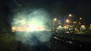 Thunder Trains Rainy Night in Acworth, GA