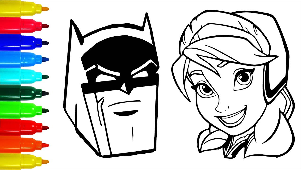 Elsa Batman Simpsons Coloring Pages