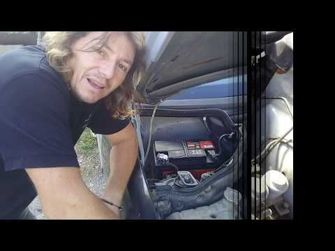 Mercedes w124 - How to fix a corroded battery tutorial DIY thumbnail