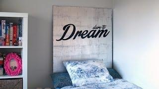 DIY decora tu habitación con un cabecero - Silver gilding headboard