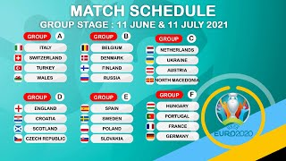 Uefa euro 2020 finals draw: group stage 2021