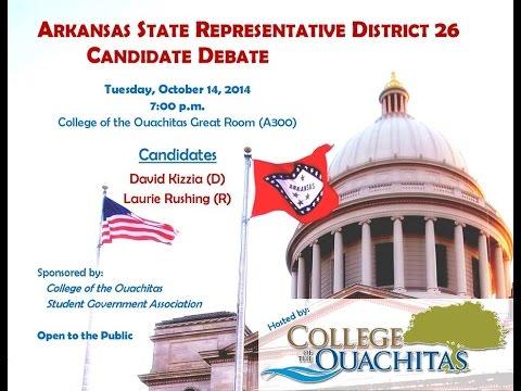 Arkansas State Representative District 26 Debate 10-14-14