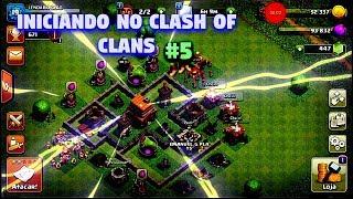 INICIANDO NO CLASH OF CLANS #5 MAXIMIZANDO MEU CV4