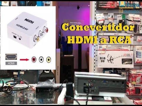 ¿Cómo conectar un convertidor de video HDMI a RCA?