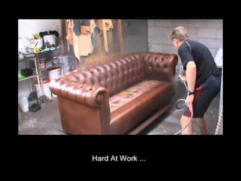 restoring leather sofa amazon covers professional restoration nz youtube