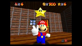 "SM64 [TAS] - CCM 100 coins + Big Penguin Race (1'14""03 w/ 3 stars text box)"