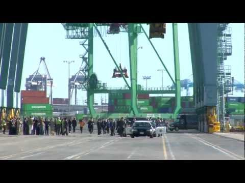 Chinese Vice President Xi Jinping visits Port of Los Angeles