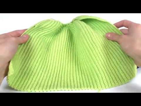 Детская шапка резинка крючком