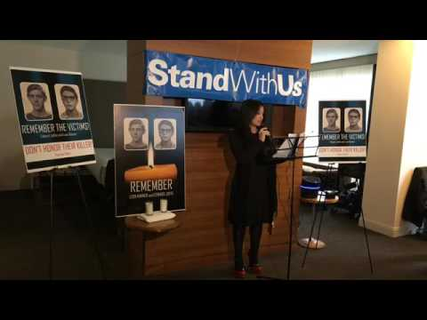 Memorial service protesting Jewish Voices for Peace, conference  honoring convicted killer of jews