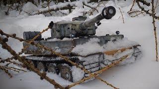 Танк German Tiger I На Радиоуправлении Тест По Снегу