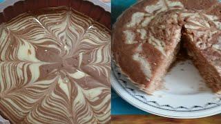 Пирог зебра без духовки очень вкусный и простой рецепт