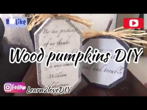 Wood pumpkins DIY