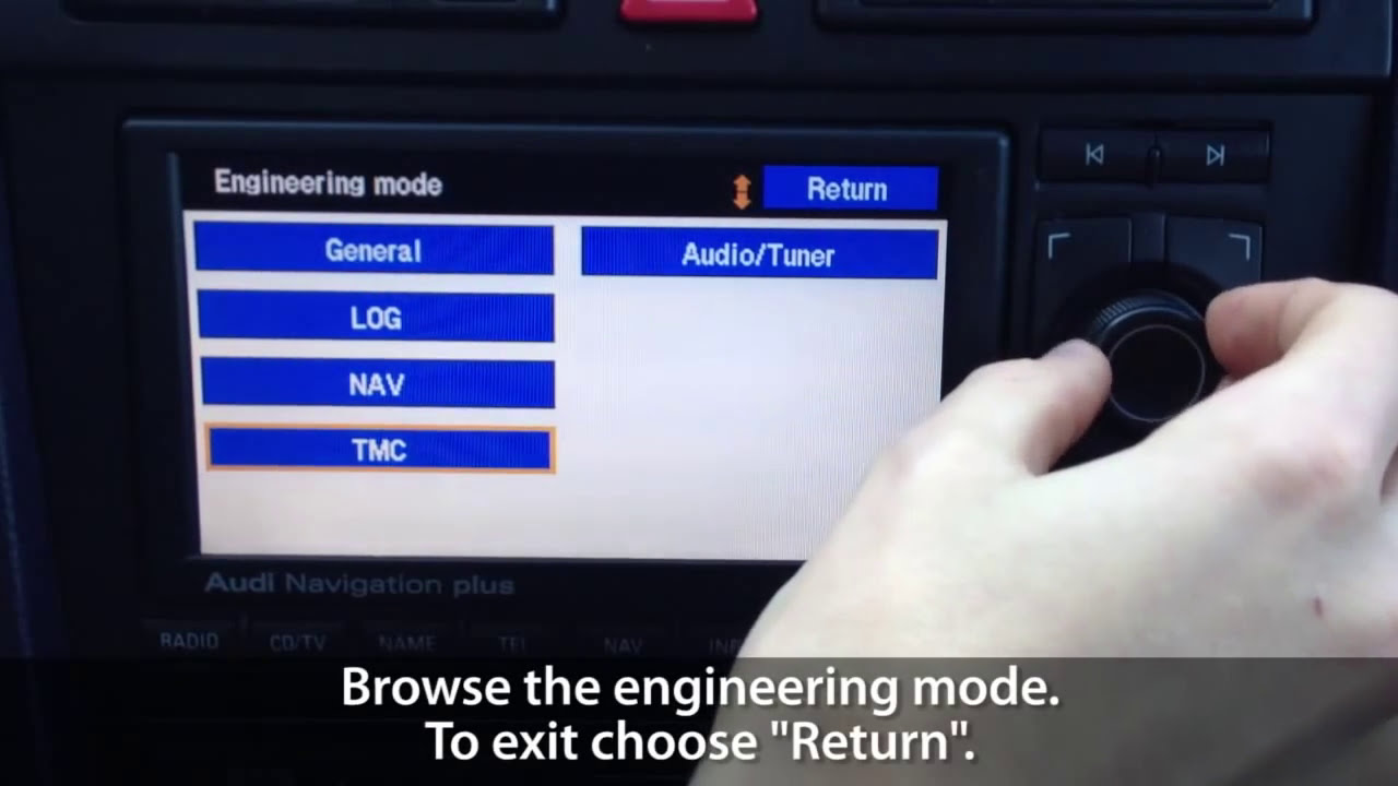 How To Unlock Secret Engineering Mode Menu In Rns-E Navigation Plus (Audi  A3 A4 A6 R8 Tt Exeo)  Mr-Fix 02:43 HD