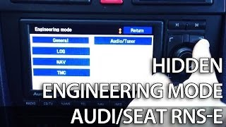 How to unlock secret engineering mode menu in RNS-E Navigation Plus (Audi A3 A4 A6 R8 TT Exeo)