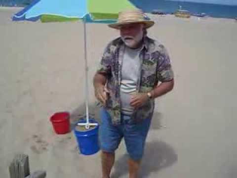 Beach Umbrella Anchor Test