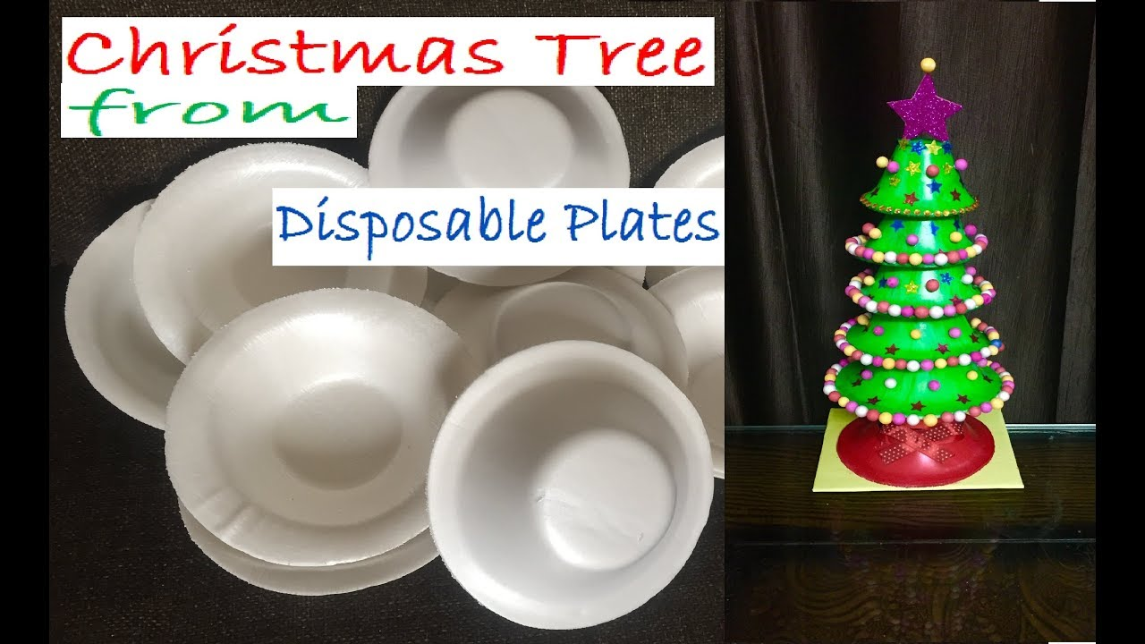 Christmas Tree From Disposable Plates Xmas Decoration