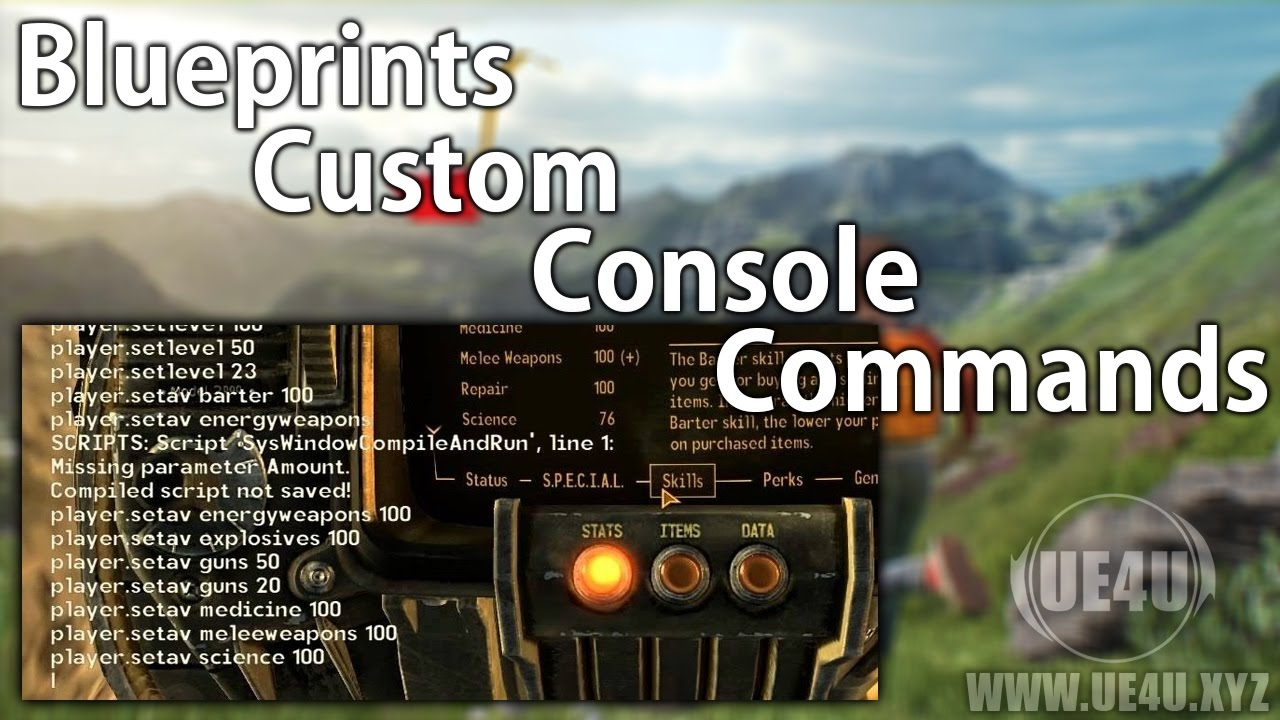 Unreal Engine, Blueprints Custom Console Commands - UE4U XYZ