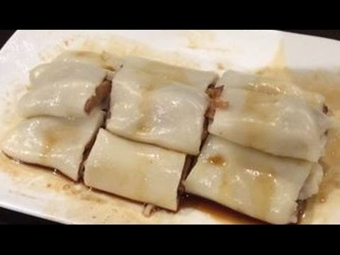 How to make 1 min Rice noodle rolls from yum cha (cheung fun) GLUTEN FREE!
