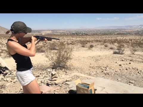 Lena shooting targets, 29 Palms, CA, 04.07.15