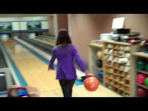 Alyssa Skinner bowling at the White House