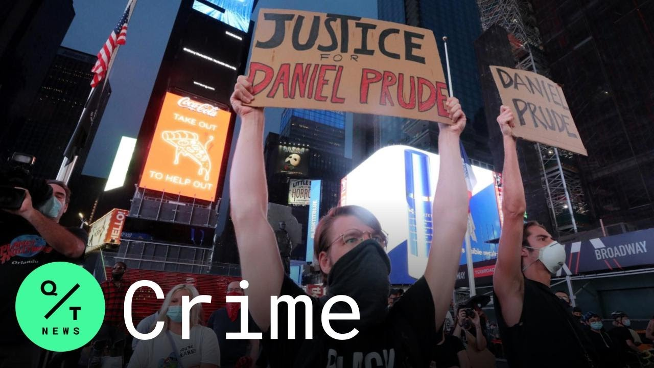 Demonstrators March Through Times Square to Protest Death of Daniel Prude