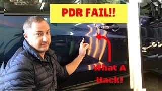 POOR PDR Removed From A Honda HRV. Dent Repair in Cocoa, Merrit Island, Titusville, Viera, Melbourne