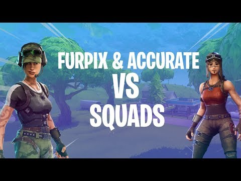 Furpix & Accurate VS Squads! *21 kill game* - Fortnite Batlle Royale