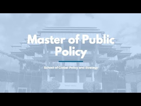 GPS Master of Public Policy degree video overview