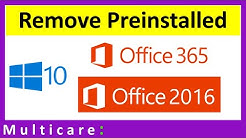Unable to remove preinstalled microsoft office 365 and 2016 in windows 10