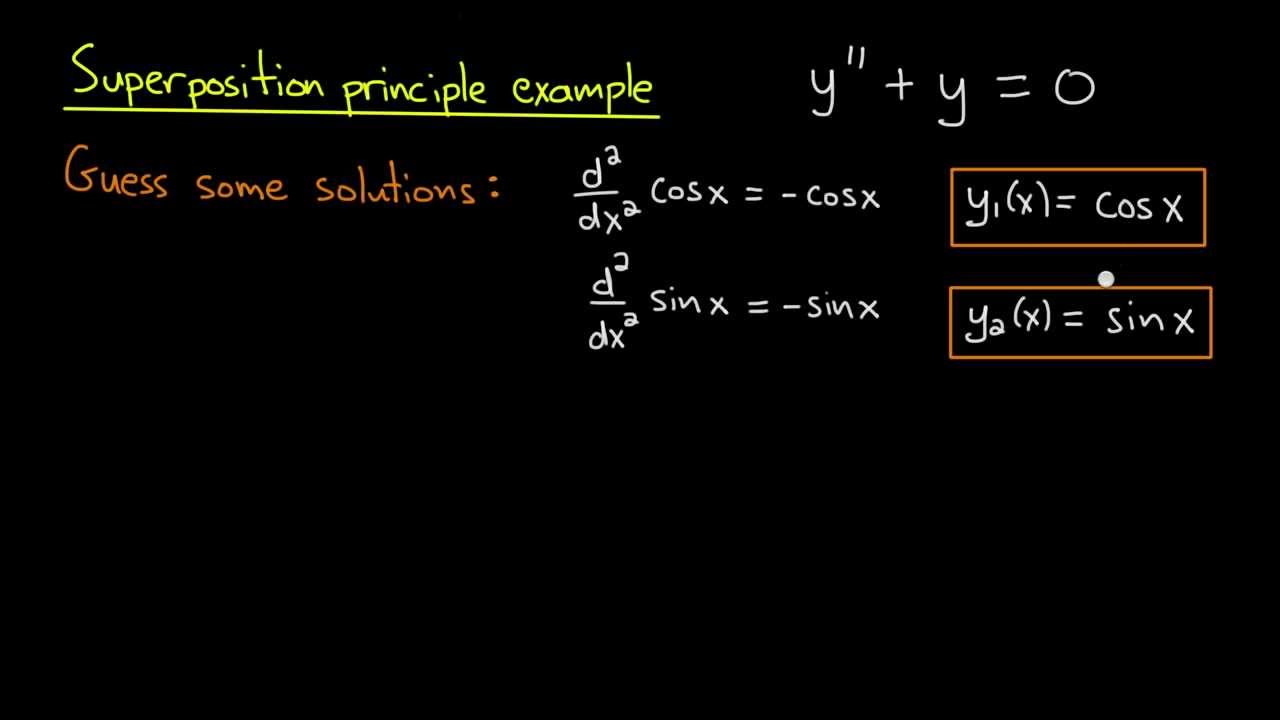 ODE | Superposition principle example