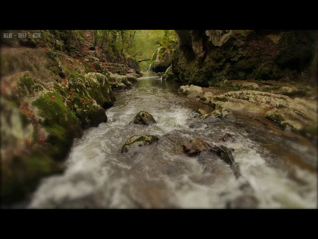 Relaxing Rain & Soothing River Sounds Near a Beautiful Waterfall in the Rocky Mountains - 10 Hours