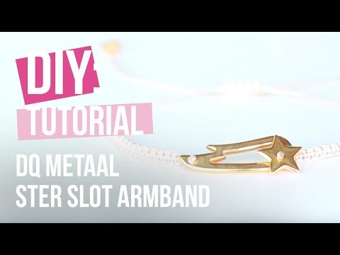 Sieraden maken: Armband met DQ Ster slot van Metaal ♡ DIY