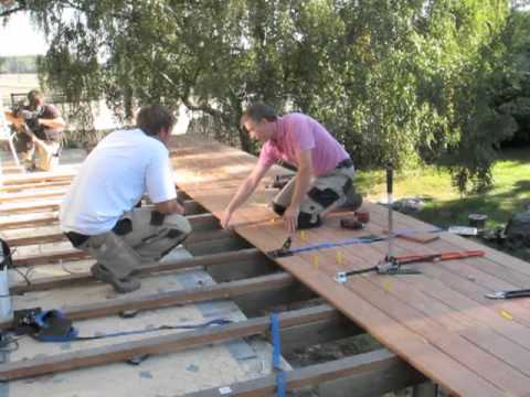 Making off de l 39 mission d co avec terrasse nature youtube for Agrandir terrasse bois