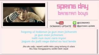 LIRIK BTS - SPRING DAY by GOMAWO [LIRIK KOREA, INDONESIA & MV]