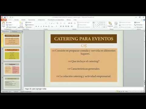 Organizacion de Catering para Eventos