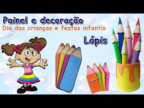 Decoração - Dia Das Crianças E Festas - Lápis Gigantes E 3D