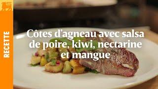 Delhaize - Recette Magazine - Côtes D'agneau Avec Salsa De Poire, Kiwi, Nectarine Et Mangue