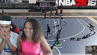 MY GIRLFRIEND PLAYING AT THE PARK PUNISHMENT!!  PT. 2 |NBA 2K16 WORST PUNISHMENT EVER!!!