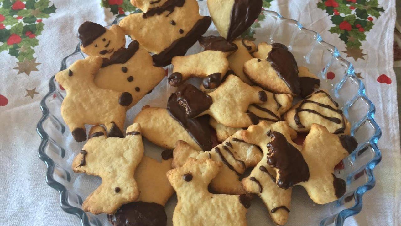 Idee Regalo Dolci Natale.Idea Regalo Natale Last Minute Dolci Di Natale Facili Biscotti Con Glassa Al Cioccolato Youtube