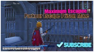 Maximum Escapee Parkour Escape Maze Prison| Fortnite creative| Code in video
