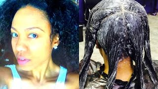 How To Relax Natural Hair | Natural to Relaxed |  Relaxer on Natural Hair