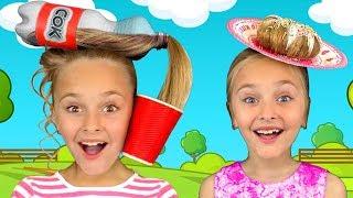 Sasha play in Hairstyle and Princess Beauty Salon