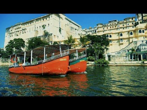 Lake Pichola,Udaipur Full Boat Ride,Pichola Jheel HD Video.City Palace,Rajasthan,India.उदयपुर