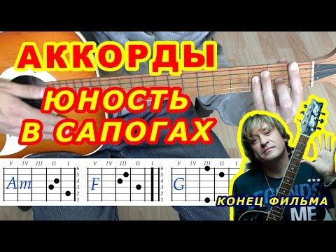 Юность в сапогах Аккорды 🎸 Конец фильма ♪ Разбор песни на гитаре ♫ Бой Текст