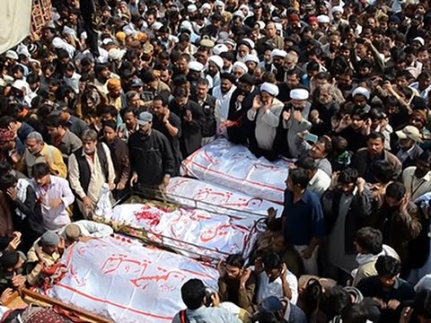 Raw: Mass Funeral for Pakistan Bombing Victims