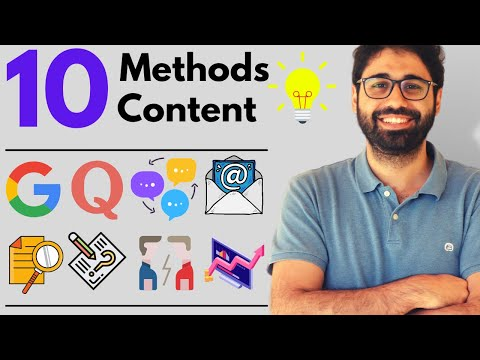 10 Methods To Find Thousands of Content Ideas (Never Runout of Ideas!!)