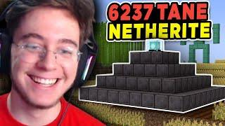 6237 Netheritetan Piramit Yaptım (Sınırsız Afk Netherite Farmı Yaptım)  Minecraft Hardcore 8